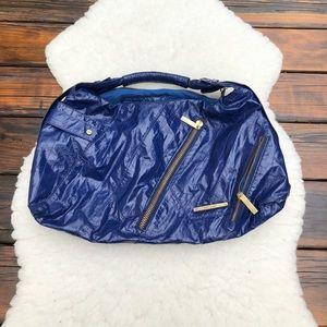 Matt and Nat Blue Crinkle Hobo Bag